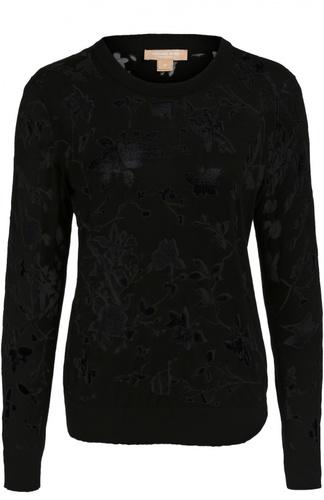 Полупрозрачный пуловер с цветочным принтом Michael Kors