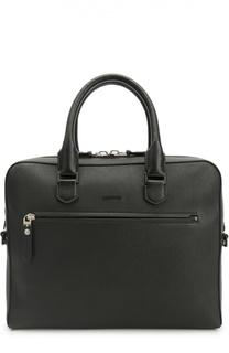 Кожаная сумка для ноутбука с плечевым ремнем Lanvin