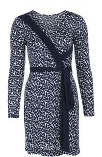 Платье с геометрическим принтом и V-образным вырезом на спине Diane Von Furstenberg