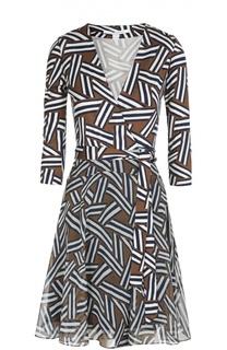Платье с запахом Irina из эластичного шелка и шифона Diane Von Furstenberg