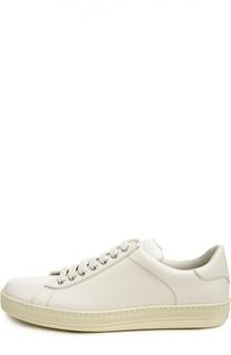 Кожаные кеды на шнуровке Tom Ford