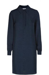 Шелковое платье прямого кроя с геометрическим узором Diane Von Furstenberg