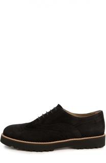 Замшевые ботинки с перфорацией Hogan