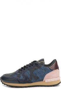 Комбинированные кроссовки Denim Camouflage Valentino