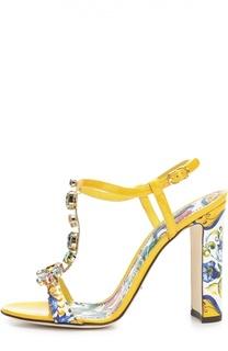 Босоножки Keira с принтом Majolica Dolce & Gabbana