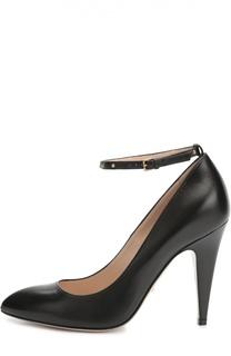Кожаные туфли Gish с ремешком на щиколотке Gucci