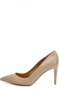 Кожаные туфли на шпильке Ralph Lauren