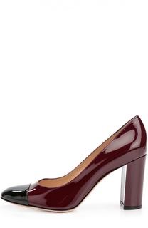 Лаковые туфли Linda на устойчивом каблуке Gianvito Rossi