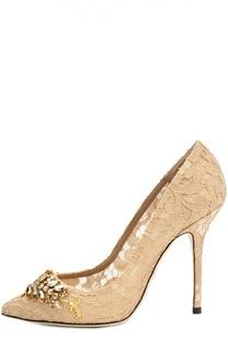 Кружевные туфли Belucci с декором Dolce & Gabbana