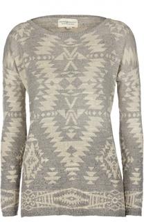 Хлопковый пуловер с круглым вырезом и принтом Denim&Supply by Ralph Lauren
