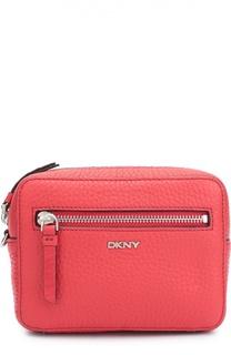 Кожаная сумка на молнии DKNY