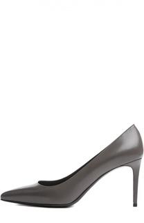 Кожаные туфли Paris Skinny на шпильке Saint Laurent