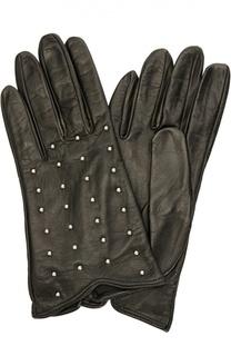 Кожаные перчатки с заклепками Sermoneta Gloves
