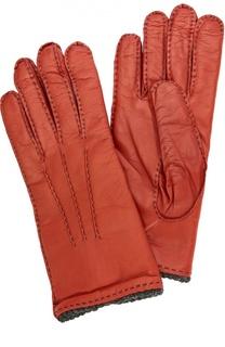 Кожаные перчатки с прострочкой Sermoneta Gloves