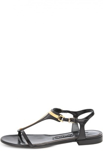 Кожаные сандалии с металлическим декором Tom Ford