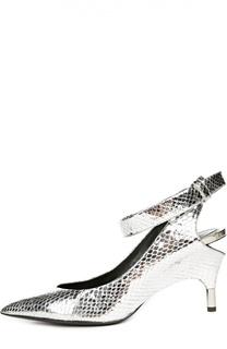 Туфли из металлизированной кожи с ремешком Tom Ford