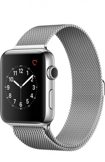 Apple Watch Series 2 42mm Silver Stainless Steel Case with Milanese Loop Apple
