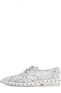 Кружевные ботинки с металлическими заклепками Givenchy