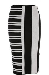 Трикотажная юбка с геометрическим принтом Theory