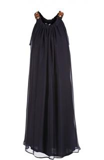 Платье свободного кроя с декоративной отделкой Lanvin