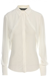 Приталенная шелковая блуза с манжетами Alexander McQueen