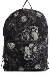 Рюкзак с принтом и внешним карманом Frankie Morello