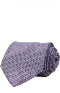 Шелковый комплект из галстука и платка Lanvin