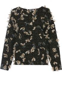 Вязаный пуловер с декоративной отделкой Chloé