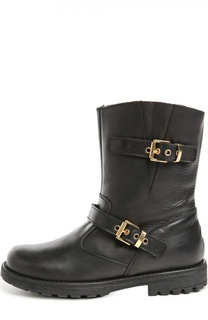 Кожаные ботинки с ремешками Zecchino d'Oro
