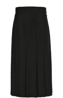 Шерстяная юбка-миди в складку Valentino