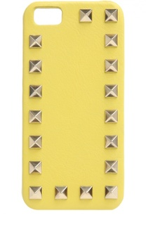 Кожаный чехол для iPhone SE/5s/5 с шипами Valentino