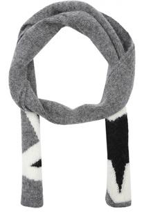 Шерстяной шарф с принтом Neil Barrett