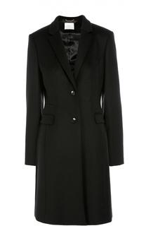 Приталенное шерстяное пальто с карманами BOSS