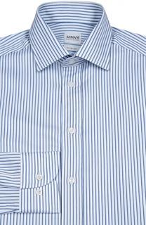 Хлопковая сорочка в полоску Armani Collezioni