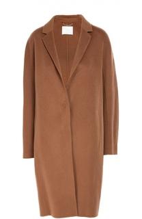 Шерстяное пальто свободного кроя BOSS