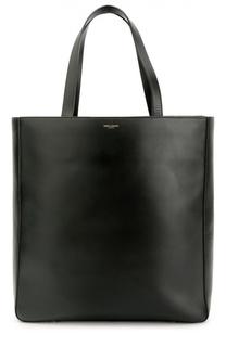 Кожаная сумка-тоут с логотипом бренда Saint Laurent