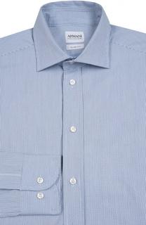 Хлопковая сорочка с узором Armani Collezioni