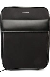 Дорожный чемодан с кожаной отделкой Ermenegildo Zegna