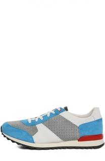 Замшевые кроссовки с перфорацией Kiton