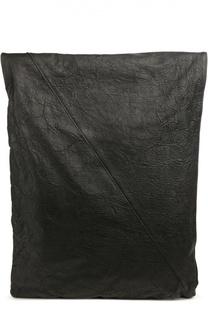 Кожаный рюкзак с отделкой из льна Isabel Benenato