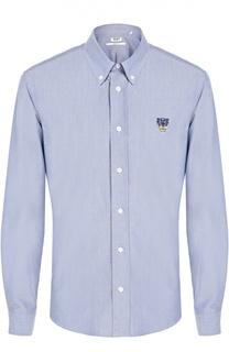 Хлопковая рубашка с вышивкой Tyger Kenzo