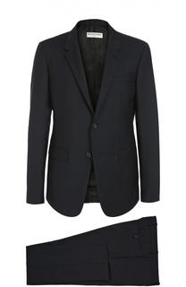 Приталенный шерстяной костюм Balenciaga