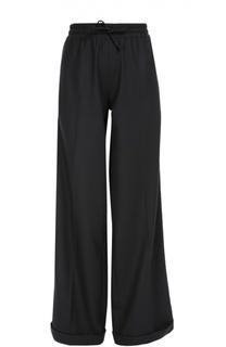 Шерстяные брюки прямого кроя с эластичным поясом Valentino