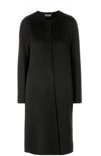 Кашемировое пальто прямого кроя с круглым вырезом Colombo