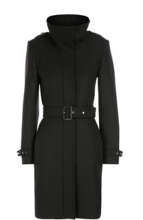 Пальто с поясом и воротником-стойкой Burberry Brit