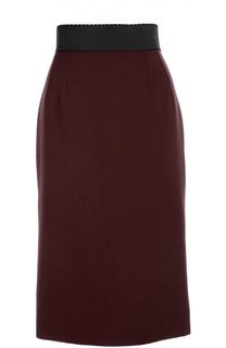 Облегающая юбка с широким поясом Dolce & Gabbana