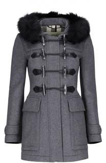 Пальто с капюшоном Burberry Brit