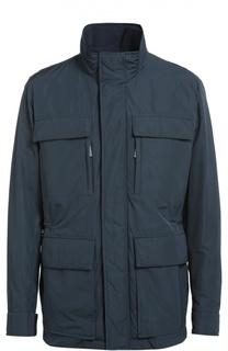 Удлиненная куртка с воротником-стойкой BOSS