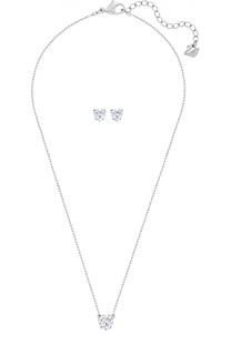 Комплект Attract Heart из подвески и серег Swarovski