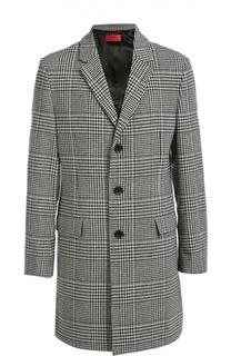 Шерстяное пальто в клетку Prince of Wales HUGO